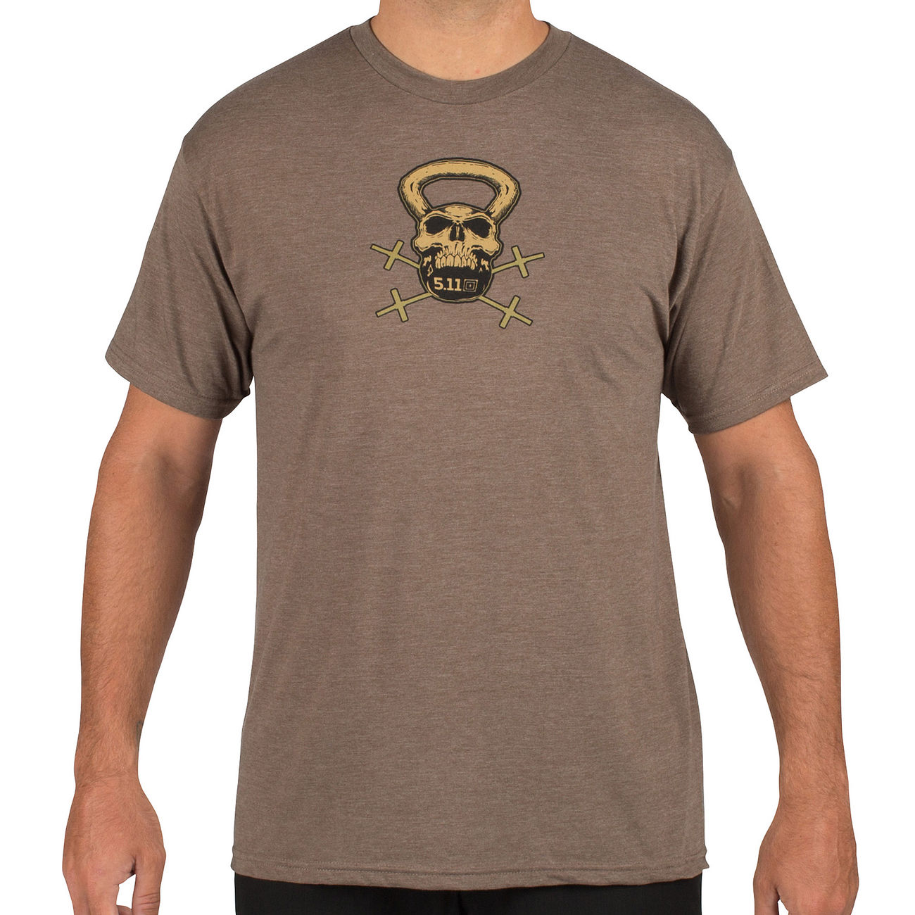 5.11 T-Shirt Recon Skull Kettle brown heather 0