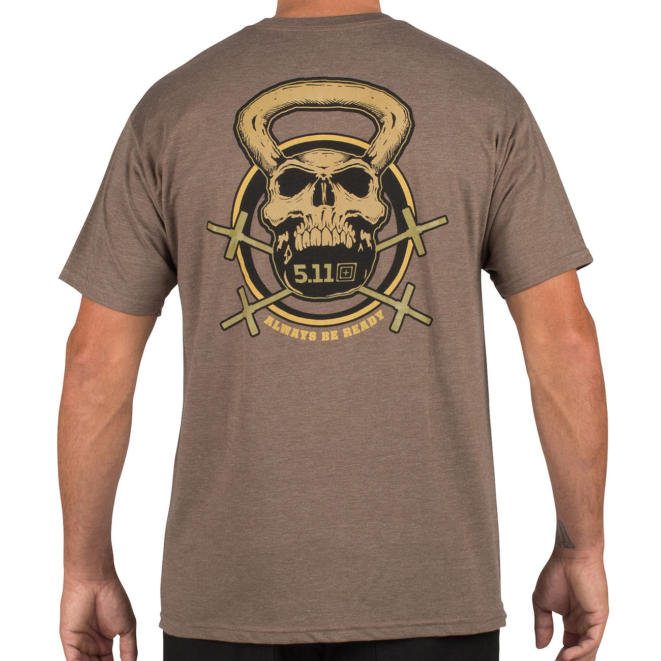 5.11 T-Shirt Recon Skull Kettle brown heather 1
