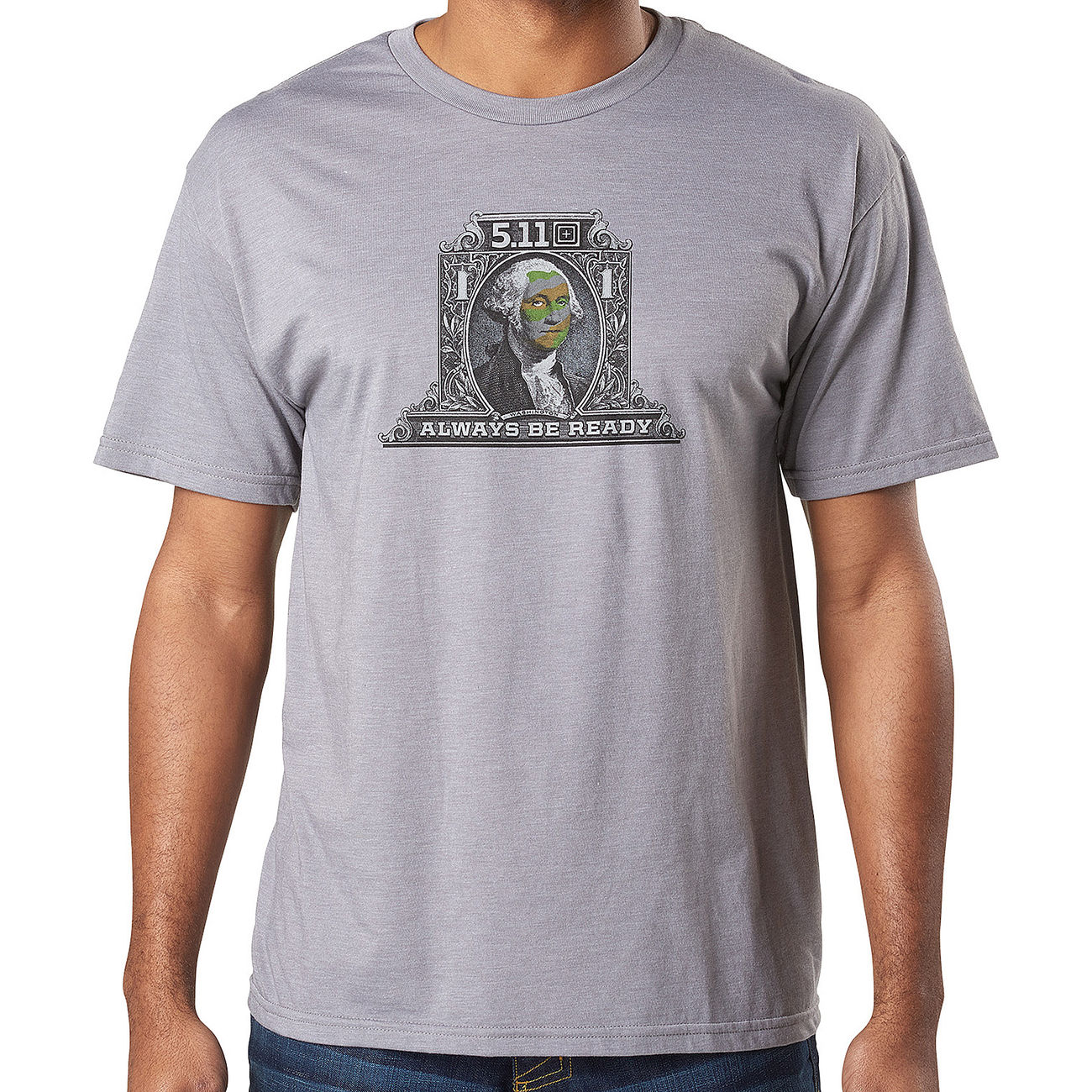 5.11 T-Shirt George Tactical Tee grey heather 0