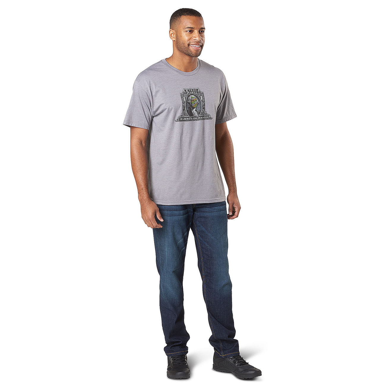 5.11 T-Shirt George Tactical Tee grey heather 2