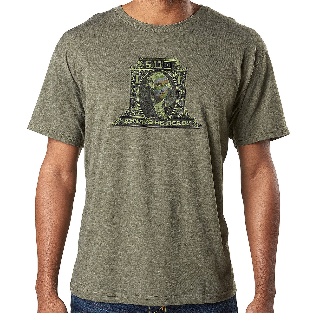 5.11 T-Shirt George Tactical military green heather 0