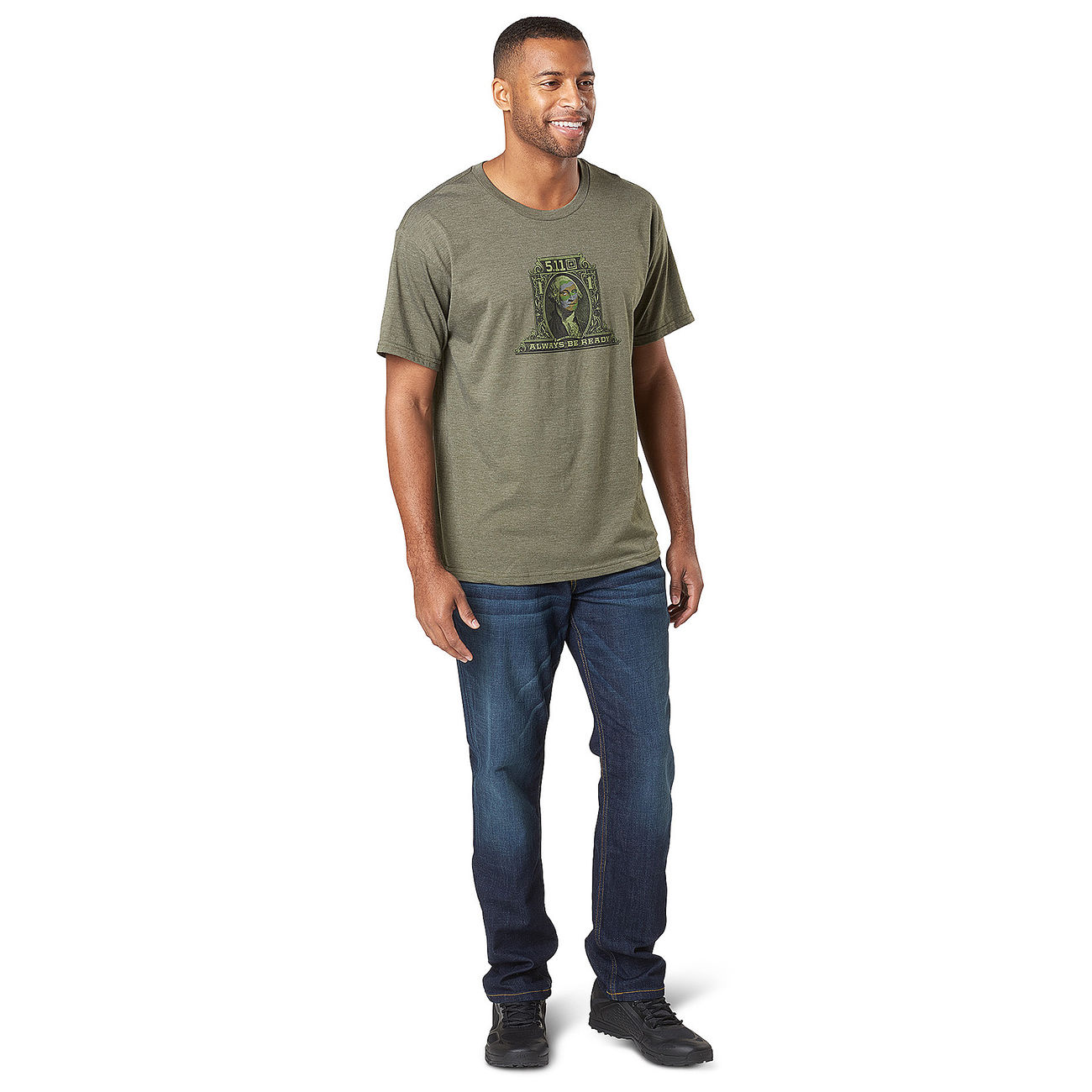 5.11 T-Shirt George Tactical military green heather 2