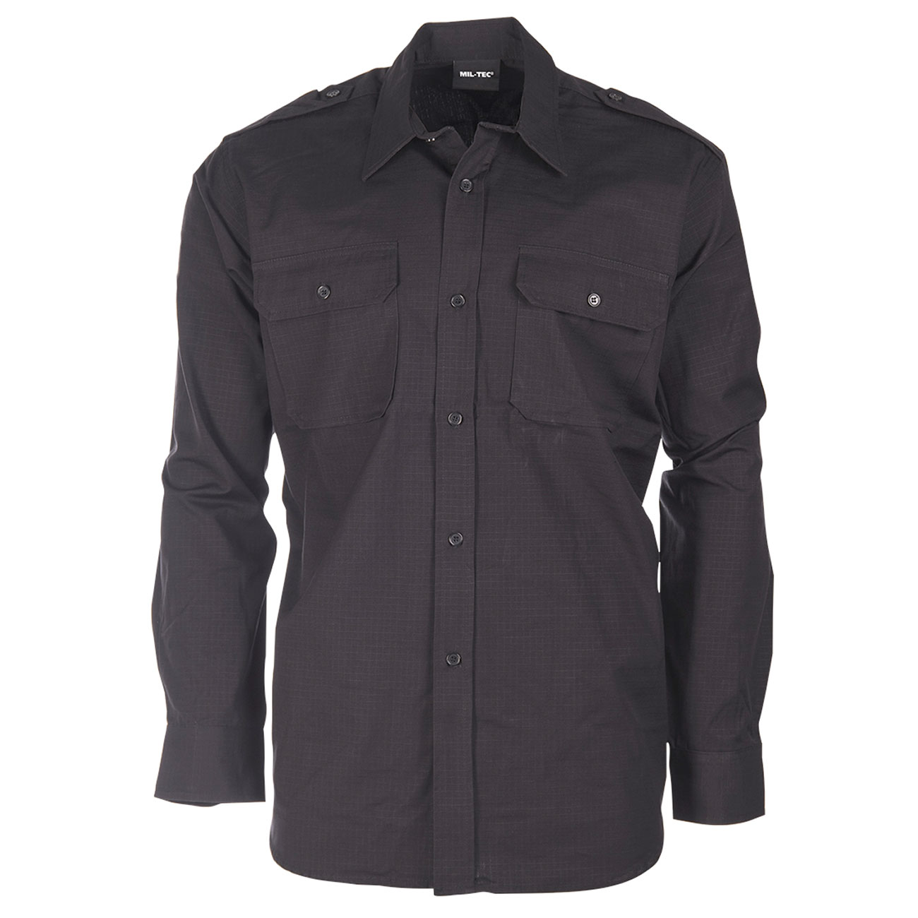 innovative design 92f26 b932c Mil-Tec Ripstop Hemd langarm schwarz