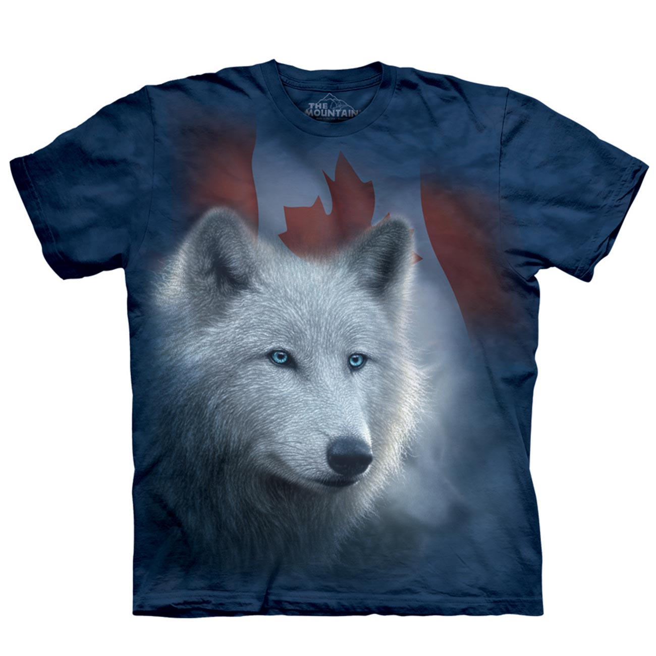 The Mountain T-Shirt Canadian White Wolf 0