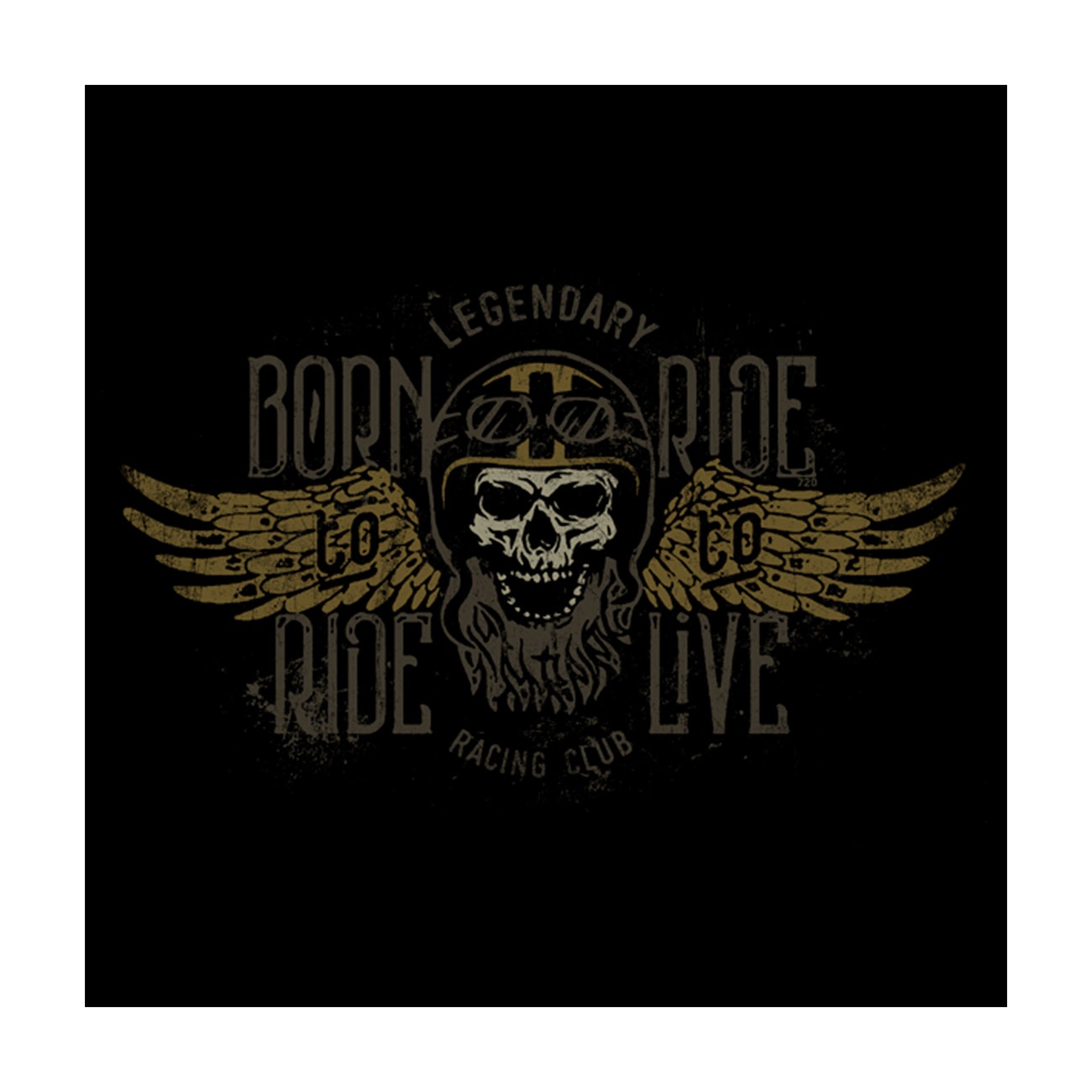 720gear T-Shirt Born to Ride 1