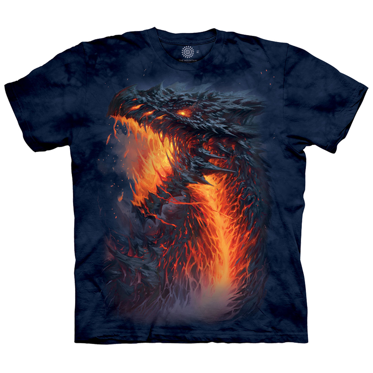 The Mountain T-Shirt Lavaborn Dragon Fantasy 0