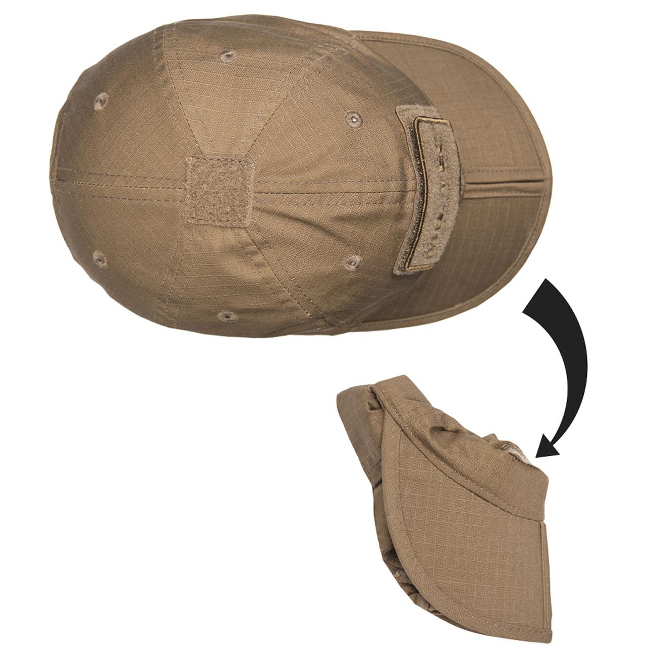 04a89cf809f64 Mil-Tec Baseball Cap faltbar dark coyote günstig kaufen - Kotte   Zeller