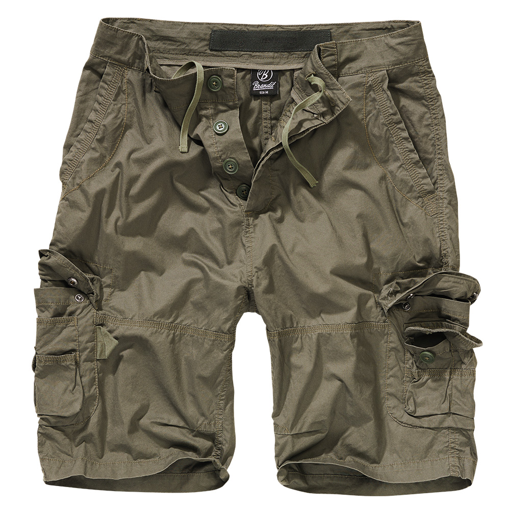 Brandit Shorts Ty Paper Touch oliv 0