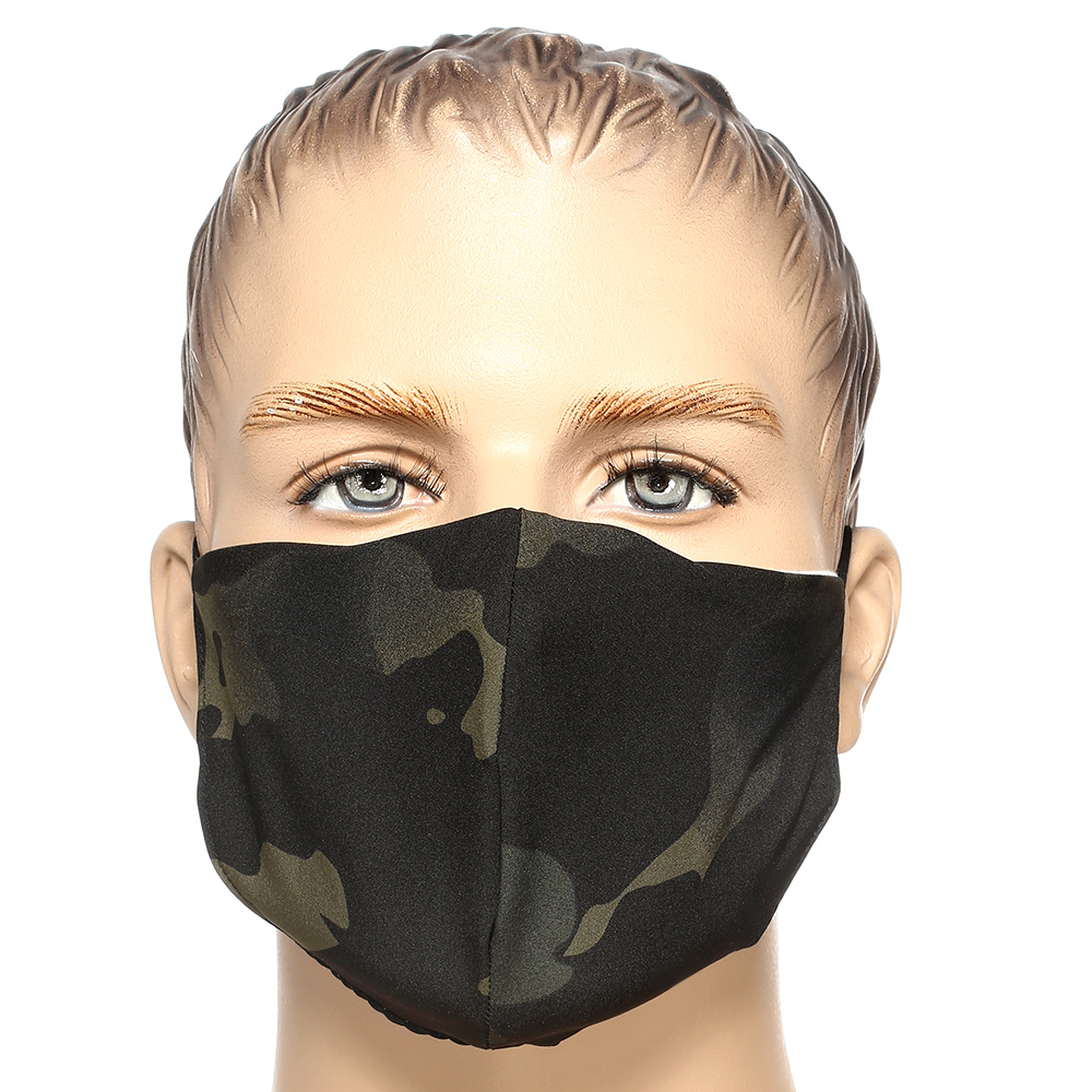 Mil-Tec Stoffmaske V-Shape multitarn black 0