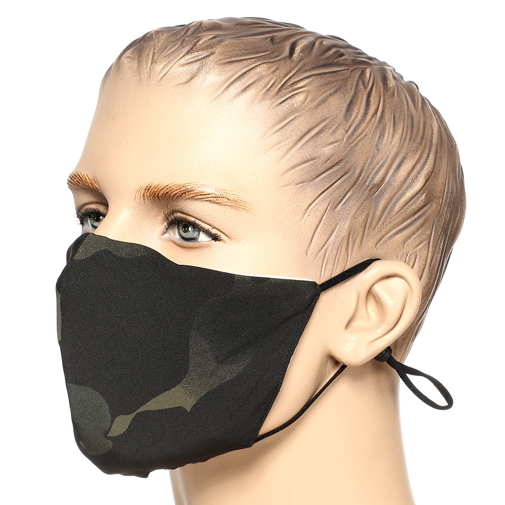 Mil-Tec Stoffmaske V-Shape multitarn black 1