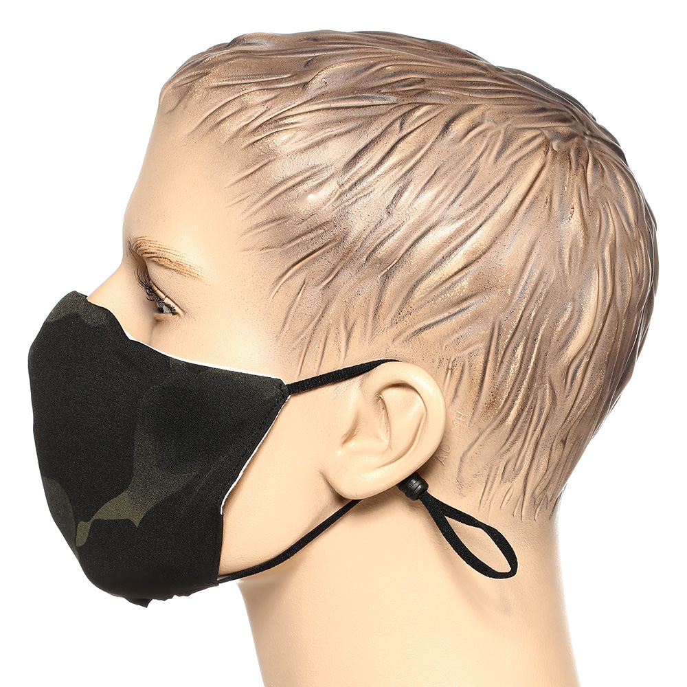 Mil-Tec Stoffmaske V-Shape multitarn black 2