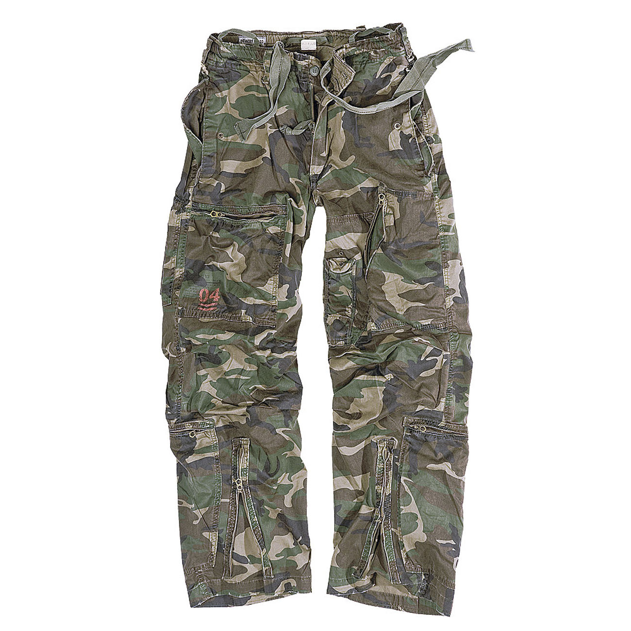 Infantry Cargo Trousers Surplus, woodland gewaschen 0