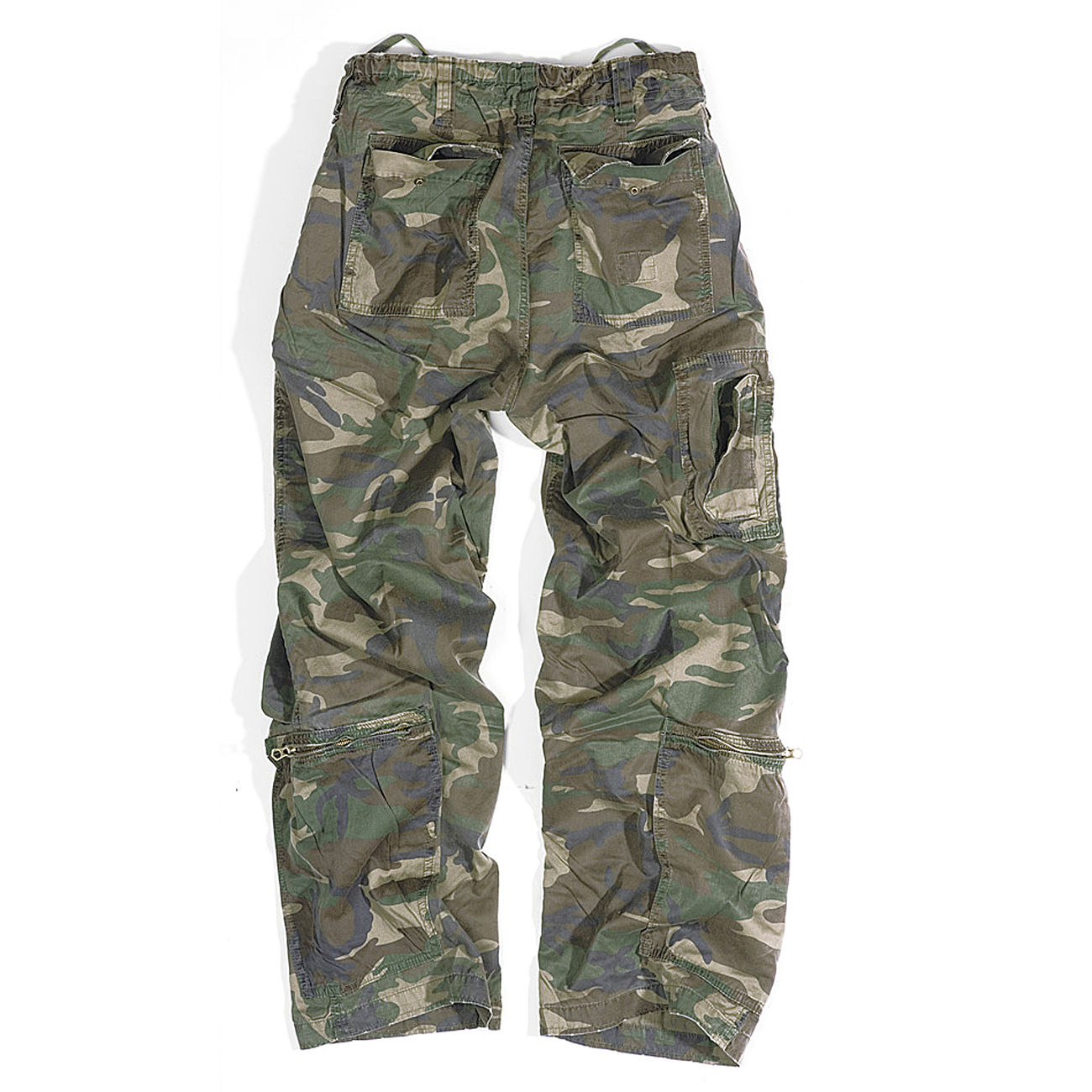 Infantry Cargo Trousers Surplus, woodland gewaschen 1