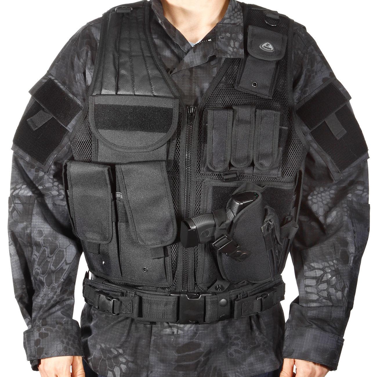 online store 74ea6 7c0c6 Fidragon Tactical Weste, Einsatzweste schwarz