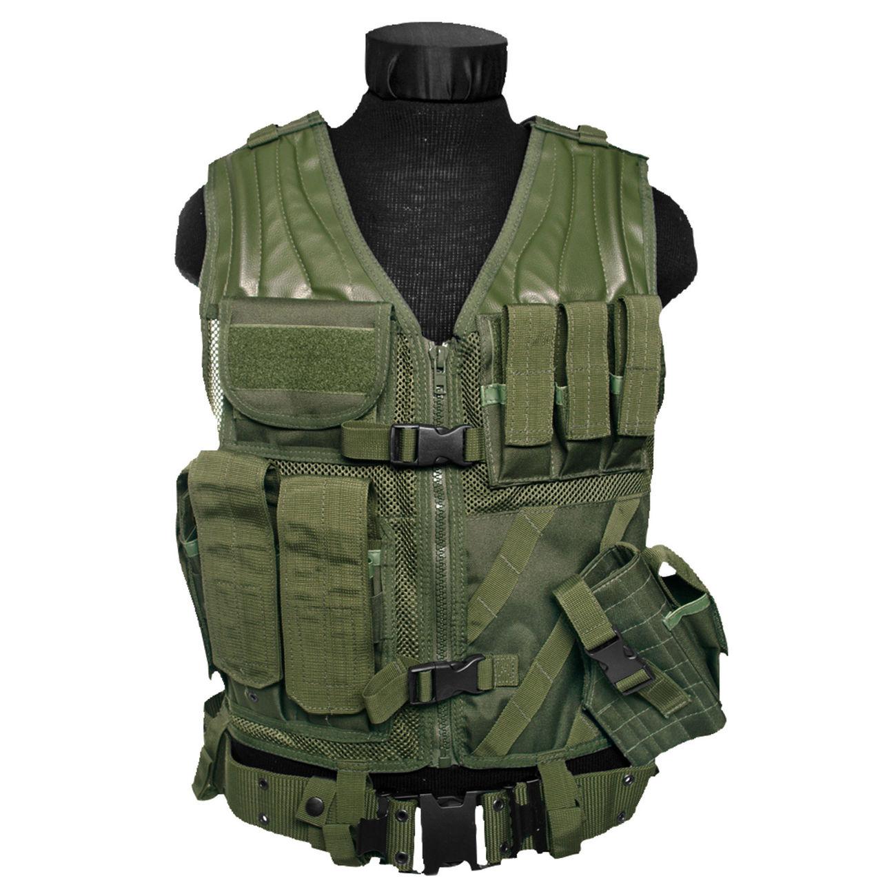 NEU US Einsatzweste mit RELEASE BW Tactical Weste Bundeswehr Modular Schutzweste