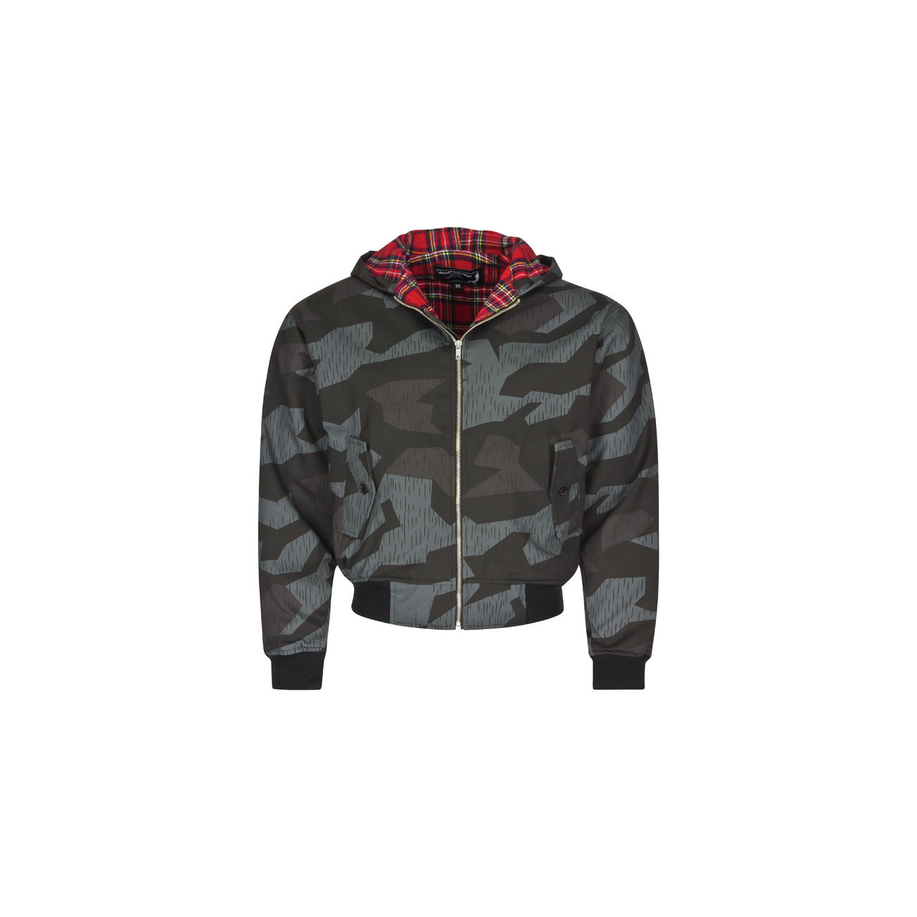 Harrington Jacke, dark-splinter mit Kapuze