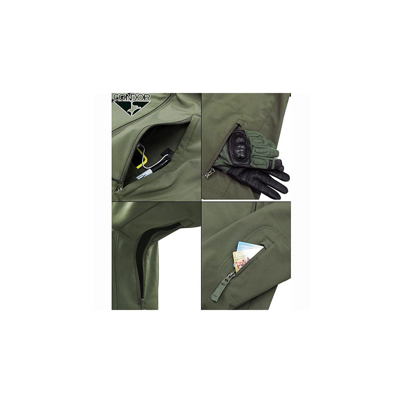 S.T. Condor Summit Outdoor Soft Shell Jacke oliv 1