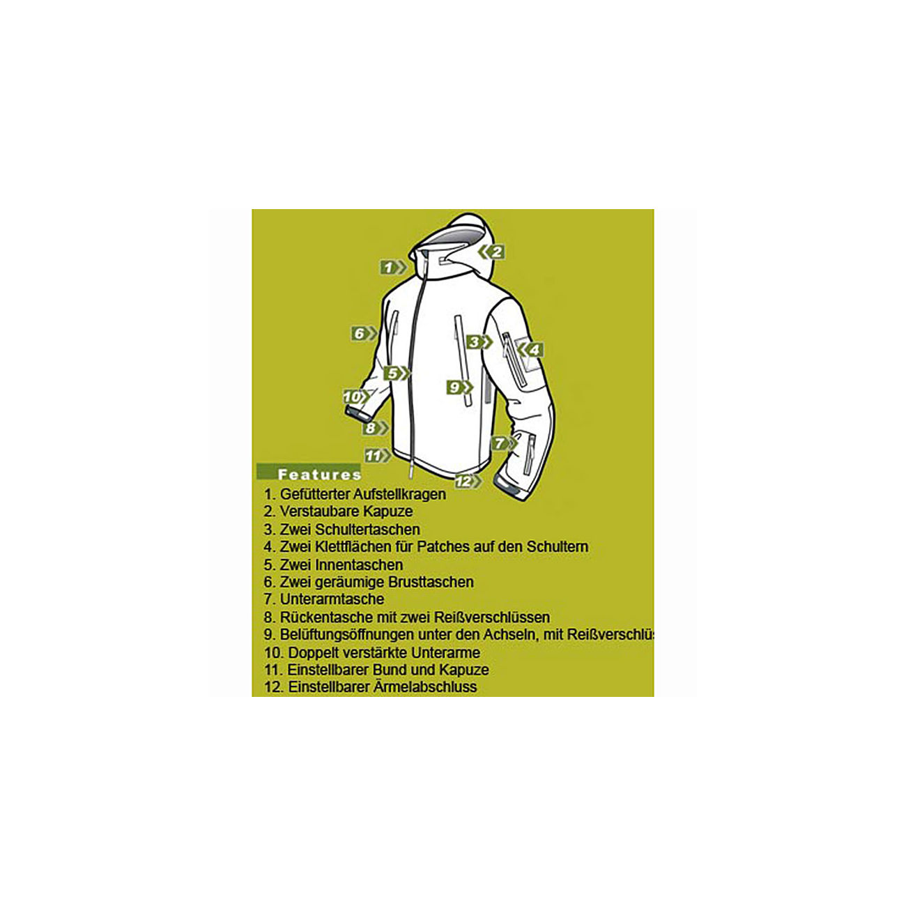 S.T. Condor Summit Outdoor Soft Shell Jacke oliv 2