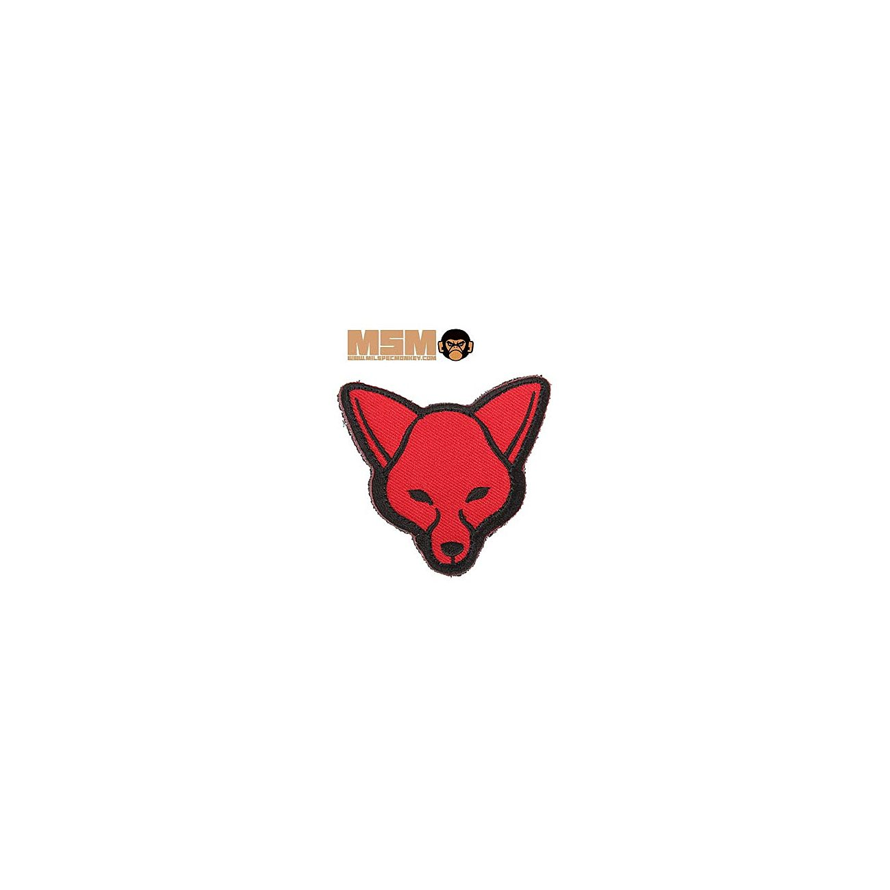 Mil-Spec Monkey Fox Head Patch Red 0