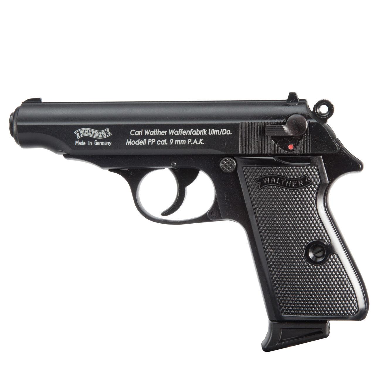 walther pp schreckschuss pistole 9mm p a k schwarz g nstig kaufen kotte zeller