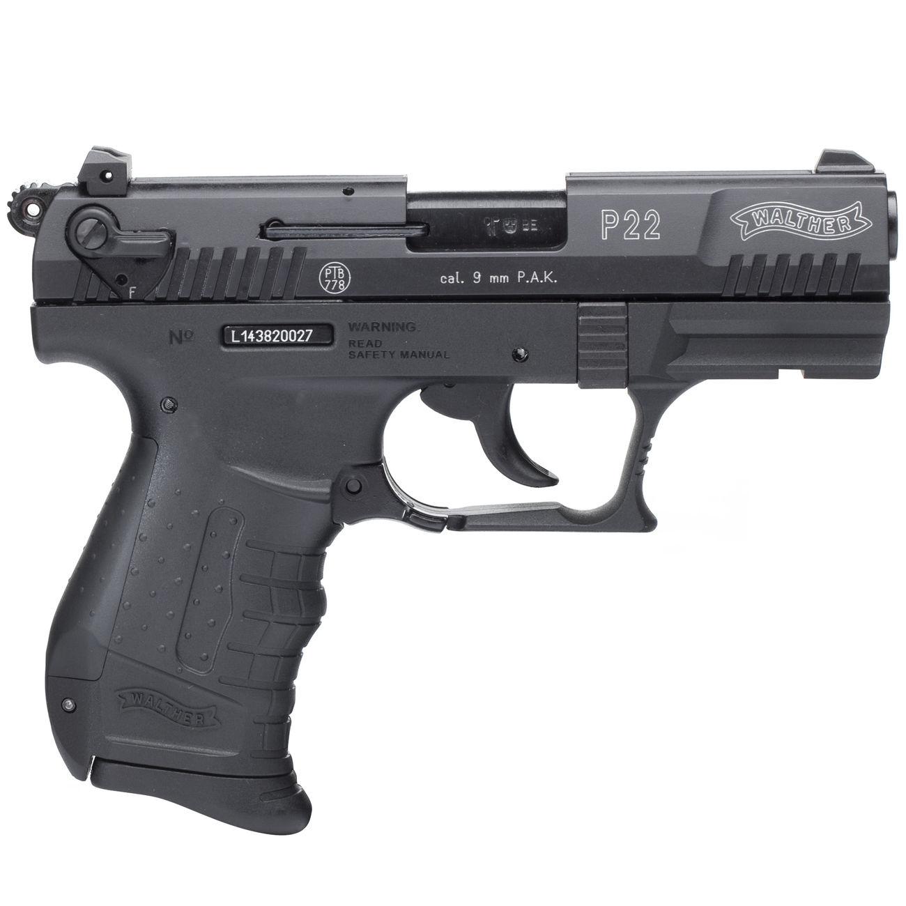 Walther P22 Schreckschuss Pistole 9mm Pak Brüniert Günstig Kaufen