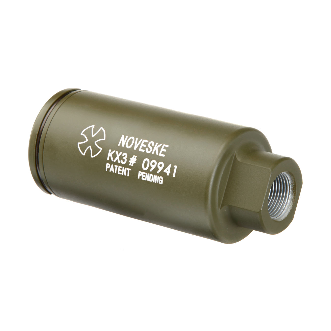 MadBull / Noveske KX3 Aluminium Amplifier Flash-Hider oliv 14mm- 4