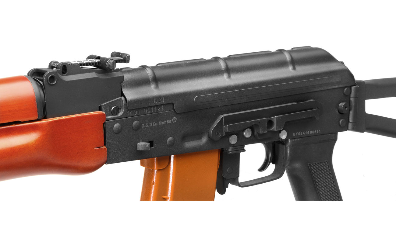 Kalash AKS-74 Vollmetall Echtholz Softair Komplettset S-AEG 6mm BB 6
