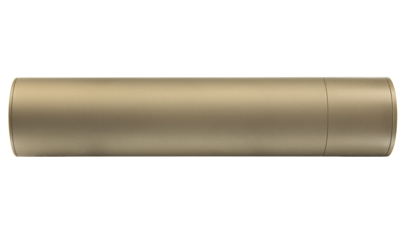 Madbull / Gemtech G5 Aluminium Silencer inkl. Flash-Hider Desert Tan 14mm - 2