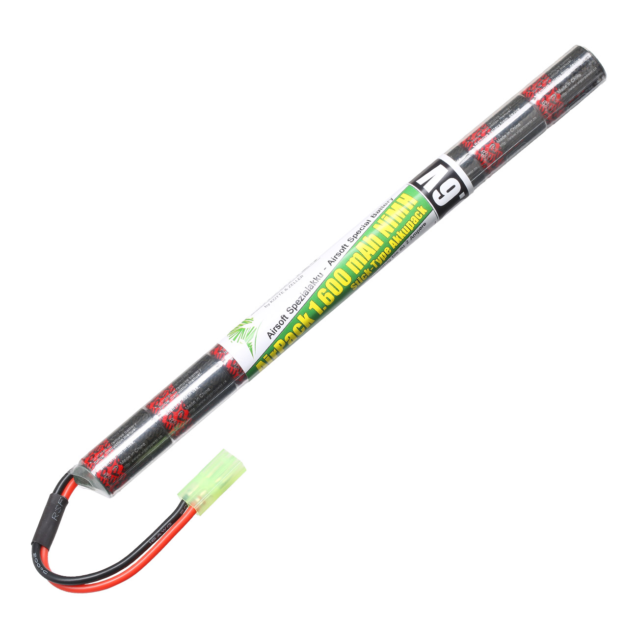 Airsoft24 AirPack Akku 9.6V 1600mAh NiMH Stick-Type mit Mini-Tam Anschluss 0