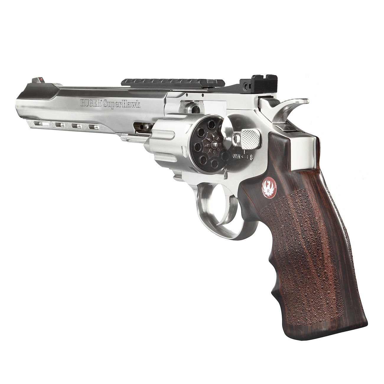 Ruger Super Hawk 8 Zoll 6mm BB CO2 Revolver chrom 3