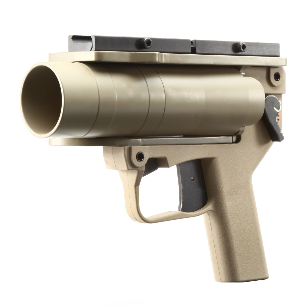 Mad Bull AGX 40mm Vollmetall Airsoft Pistolen-Launcher Tan 0