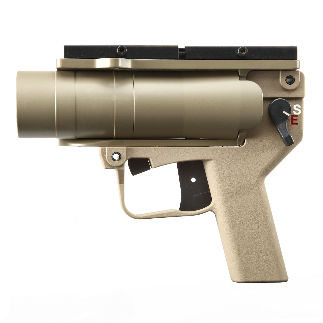 Mad Bull AGX 40mm Vollmetall Airsoft Pistolen-Launcher Tan 1