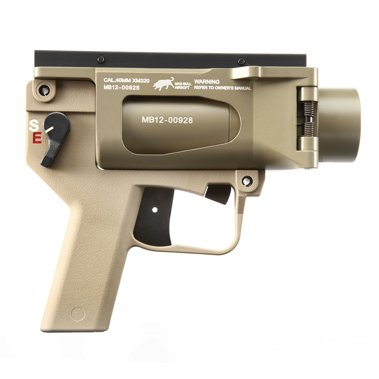 Mad Bull AGX 40mm Vollmetall Airsoft Pistolen-Launcher Tan 2