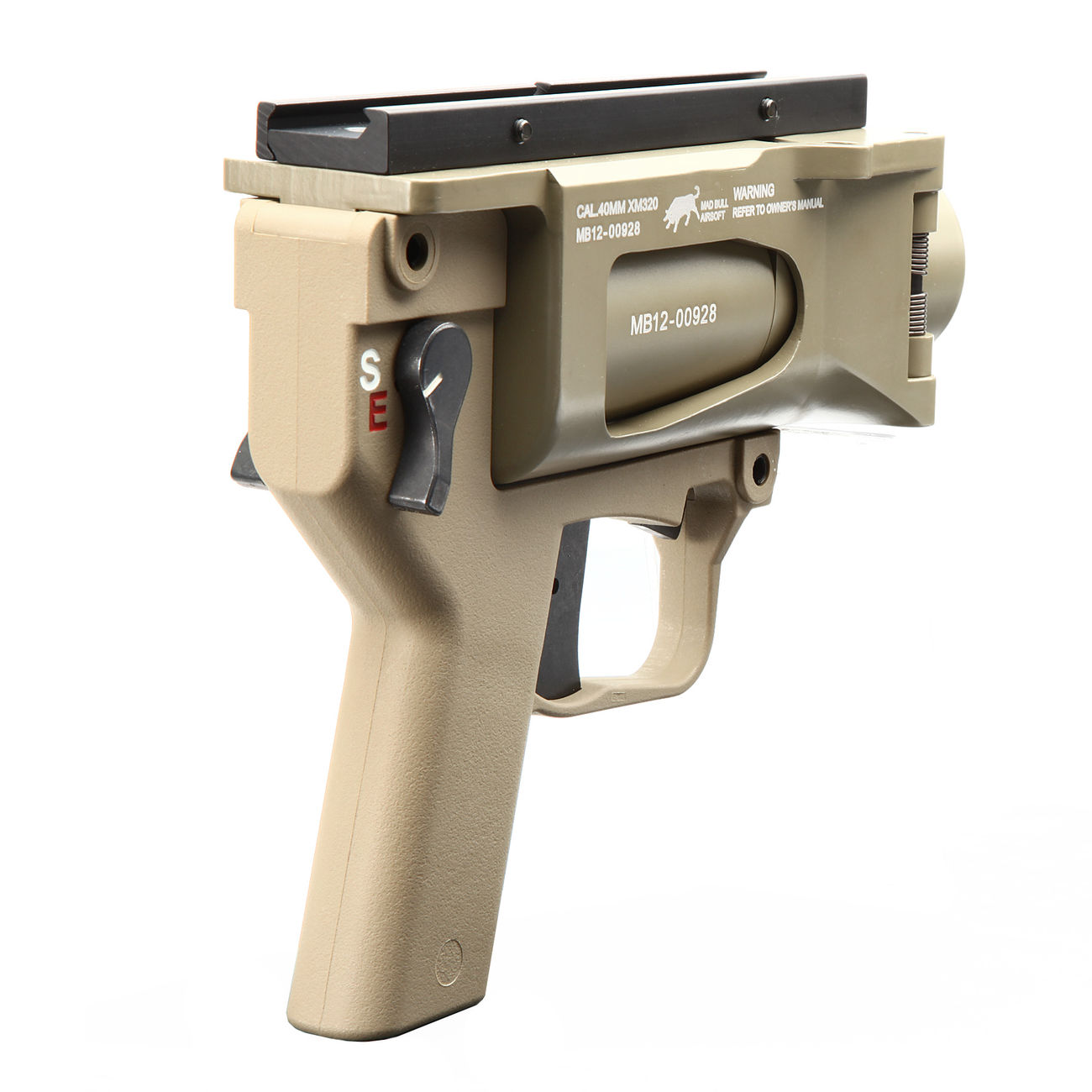 Mad Bull AGX 40mm Vollmetall Airsoft Pistolen-Launcher Tan 3