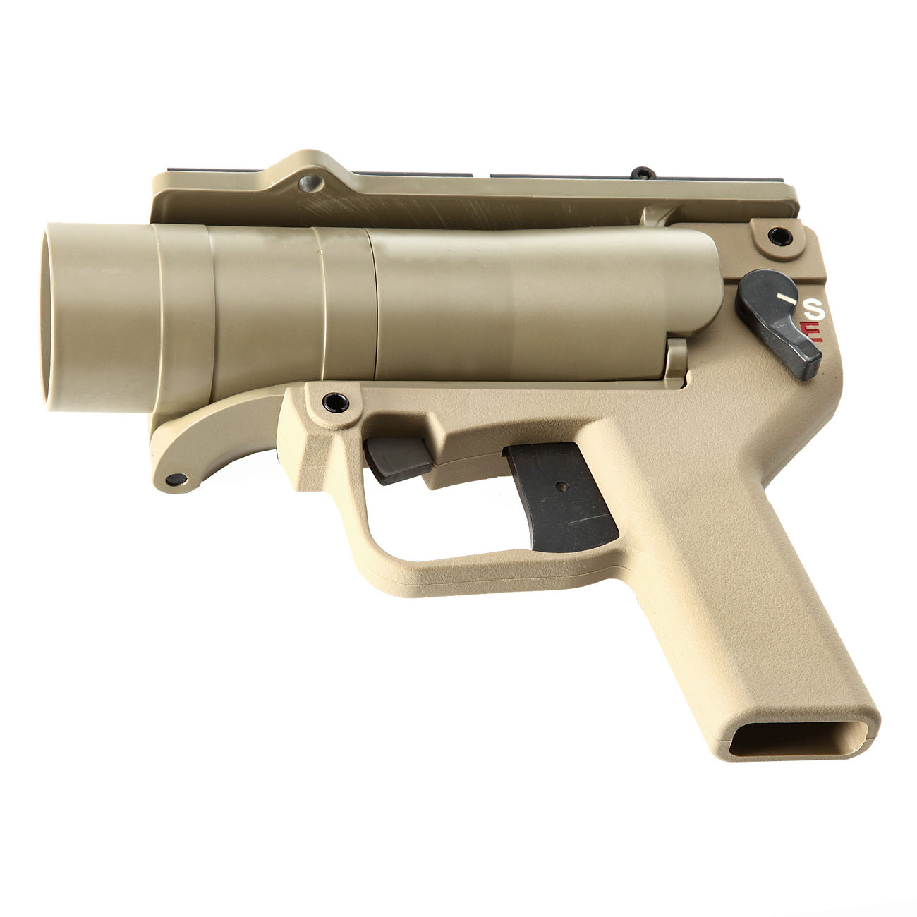 Mad Bull AGX 40mm Vollmetall Airsoft Pistolen-Launcher Tan 4