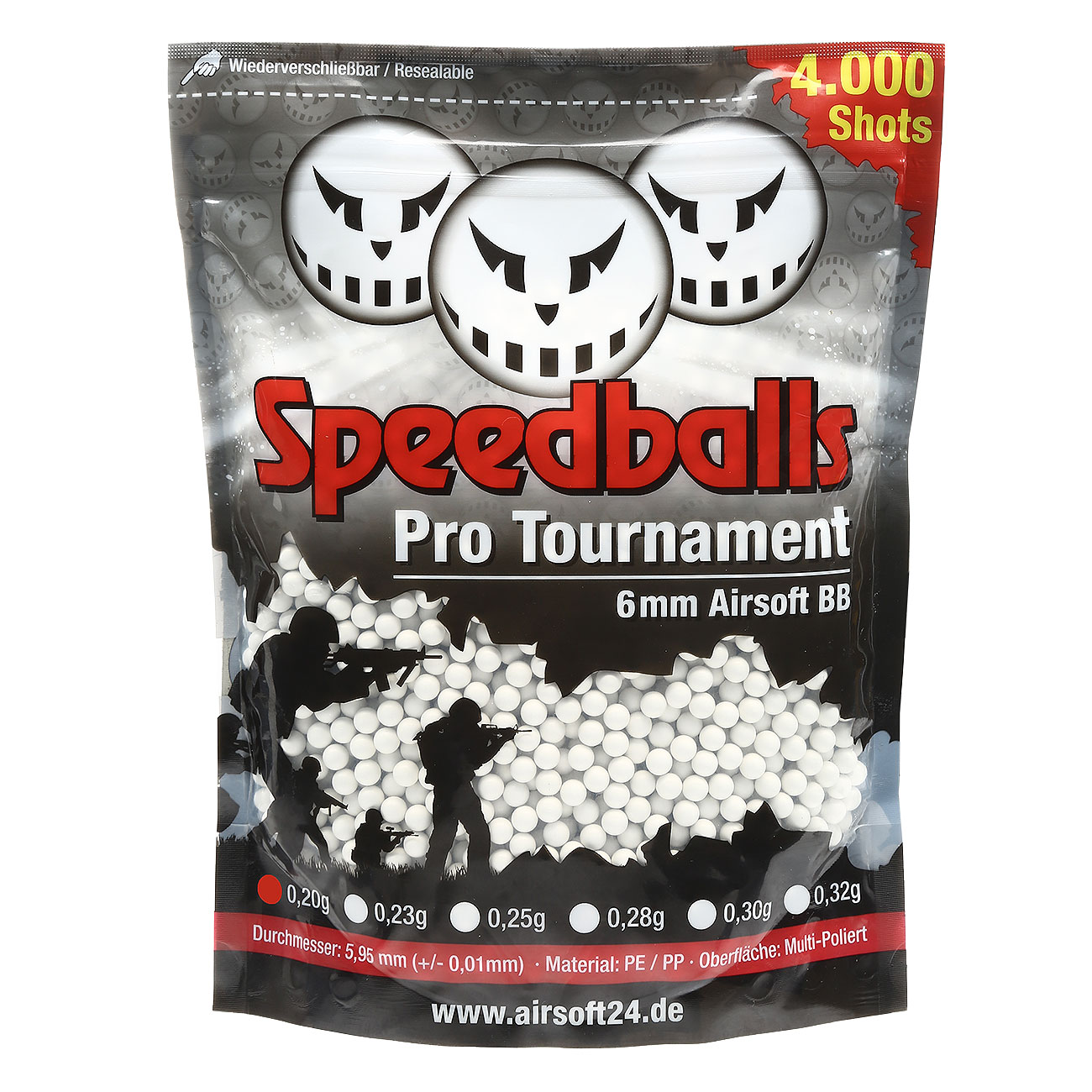 Speedballs Pro Tournament BBs 0.20g 4.000er Beutel weiss 0