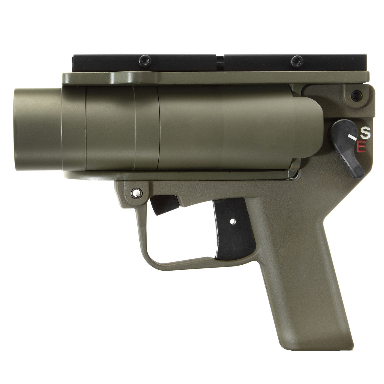 Mad Bull AGX 40mm Vollmetall Airsoft Pistolen-Launcher oliv 1
