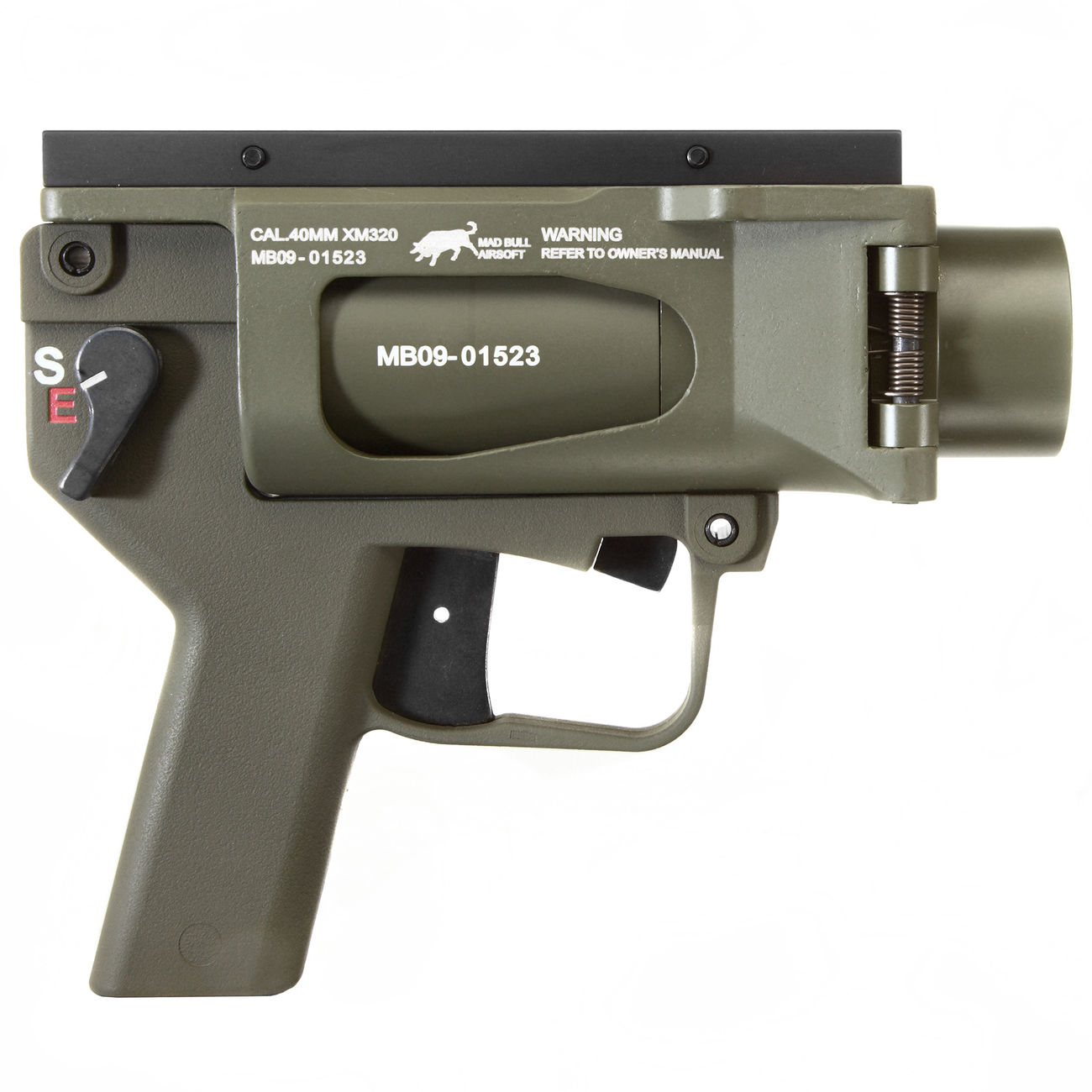Mad Bull AGX 40mm Vollmetall Airsoft Pistolen-Launcher oliv 2