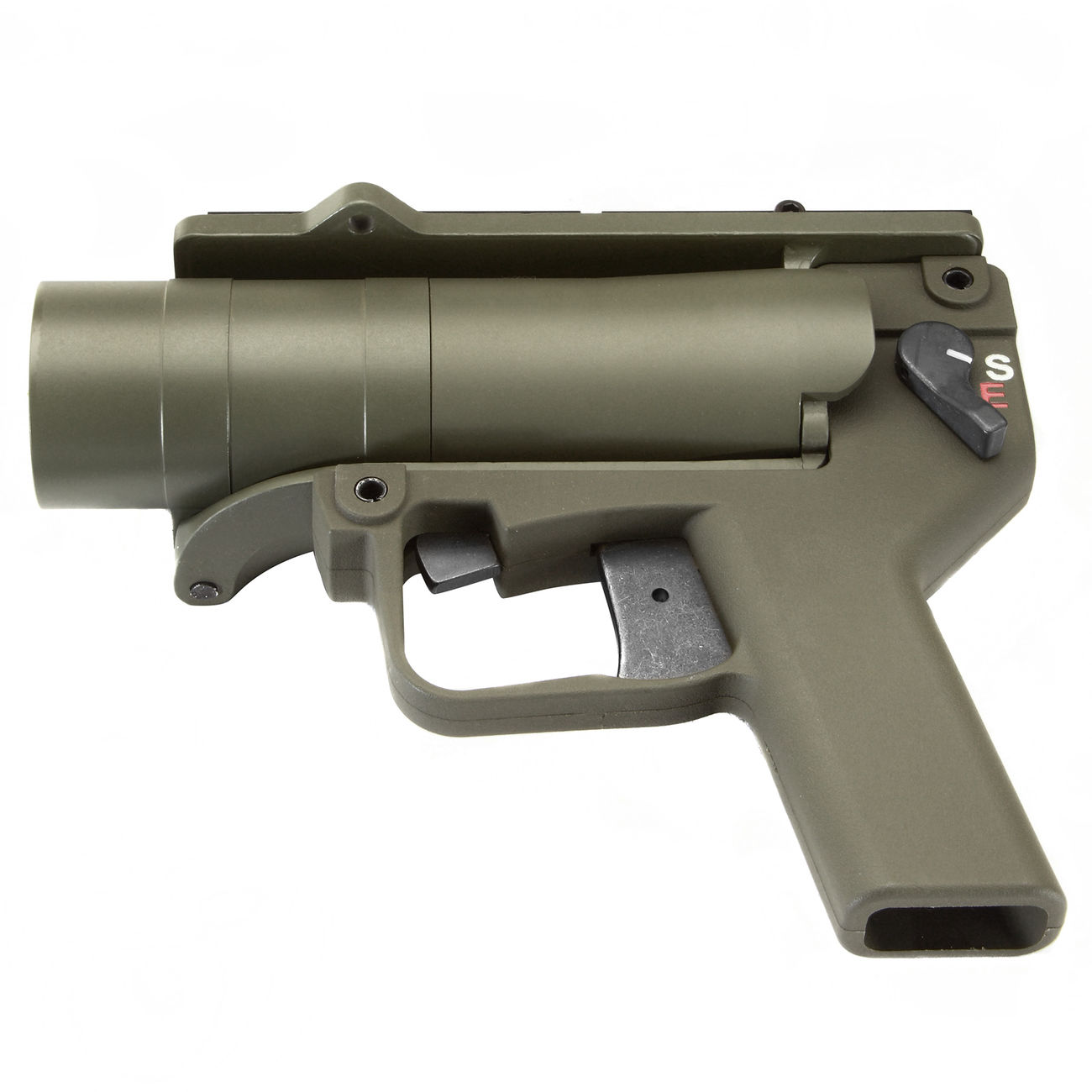 Mad Bull AGX 40mm Vollmetall Airsoft Pistolen-Launcher oliv 4