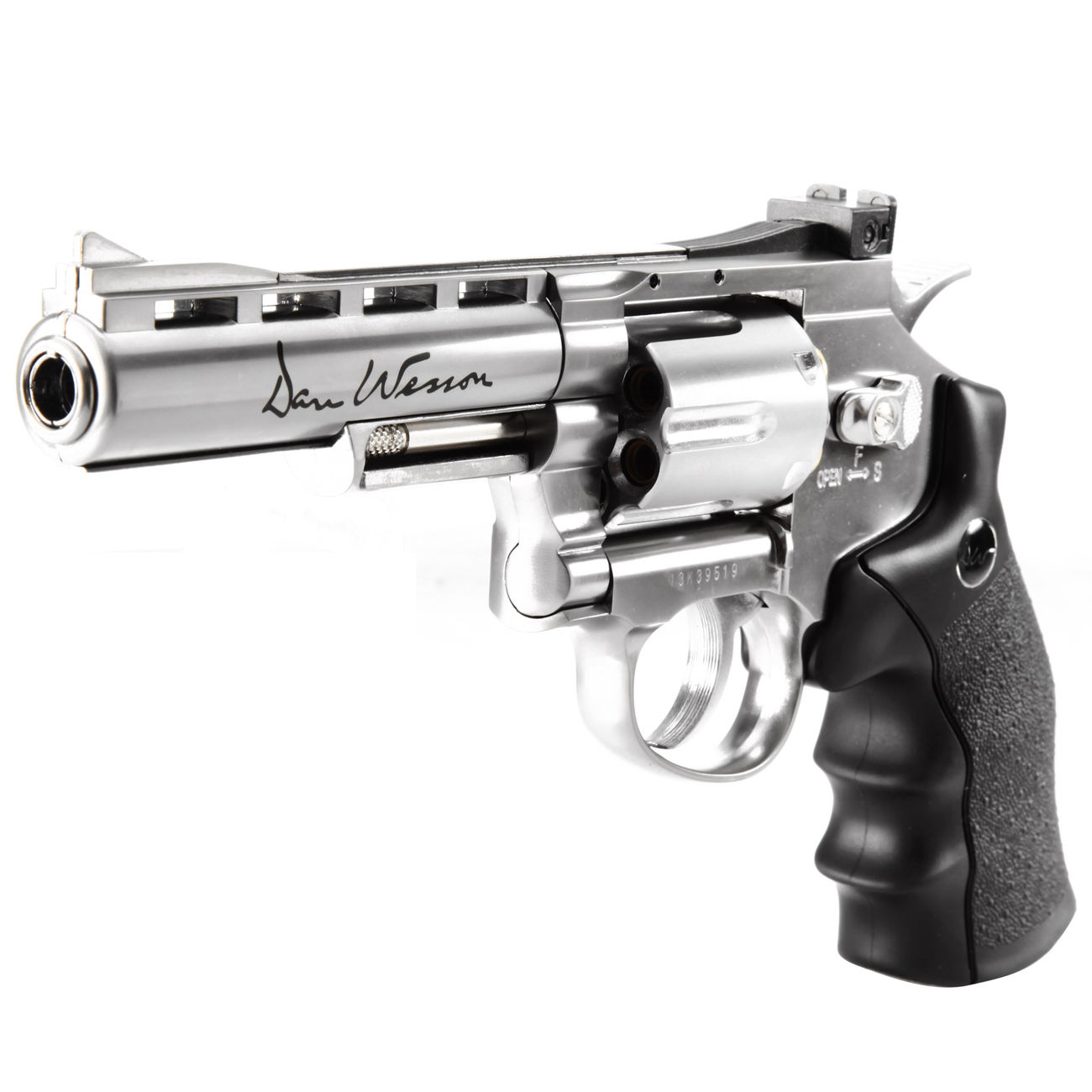 ASG Dan Wesson 4 Zoll 6mm BB CO2 Softair Revolver chrom 2