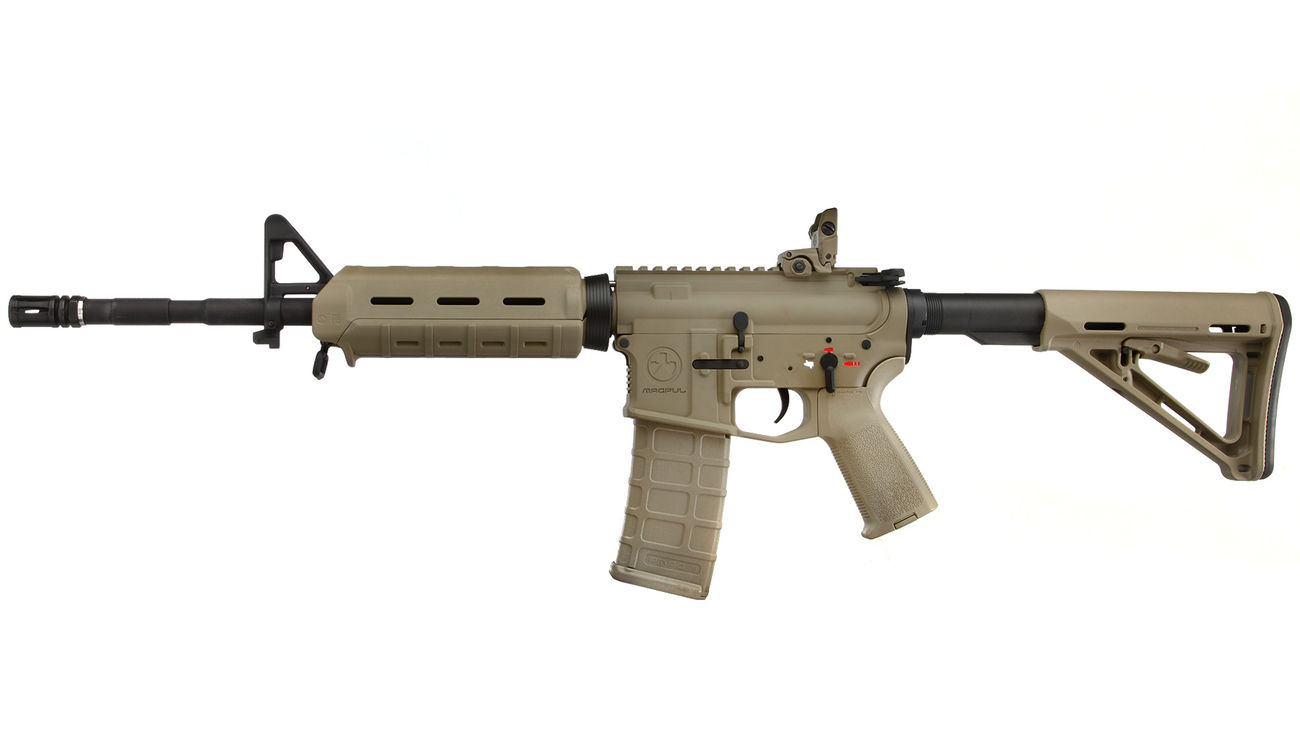 G&P MagPul MOE Carbine Vollmetall S-AEG 6mm BB Dark Earth Tan 1