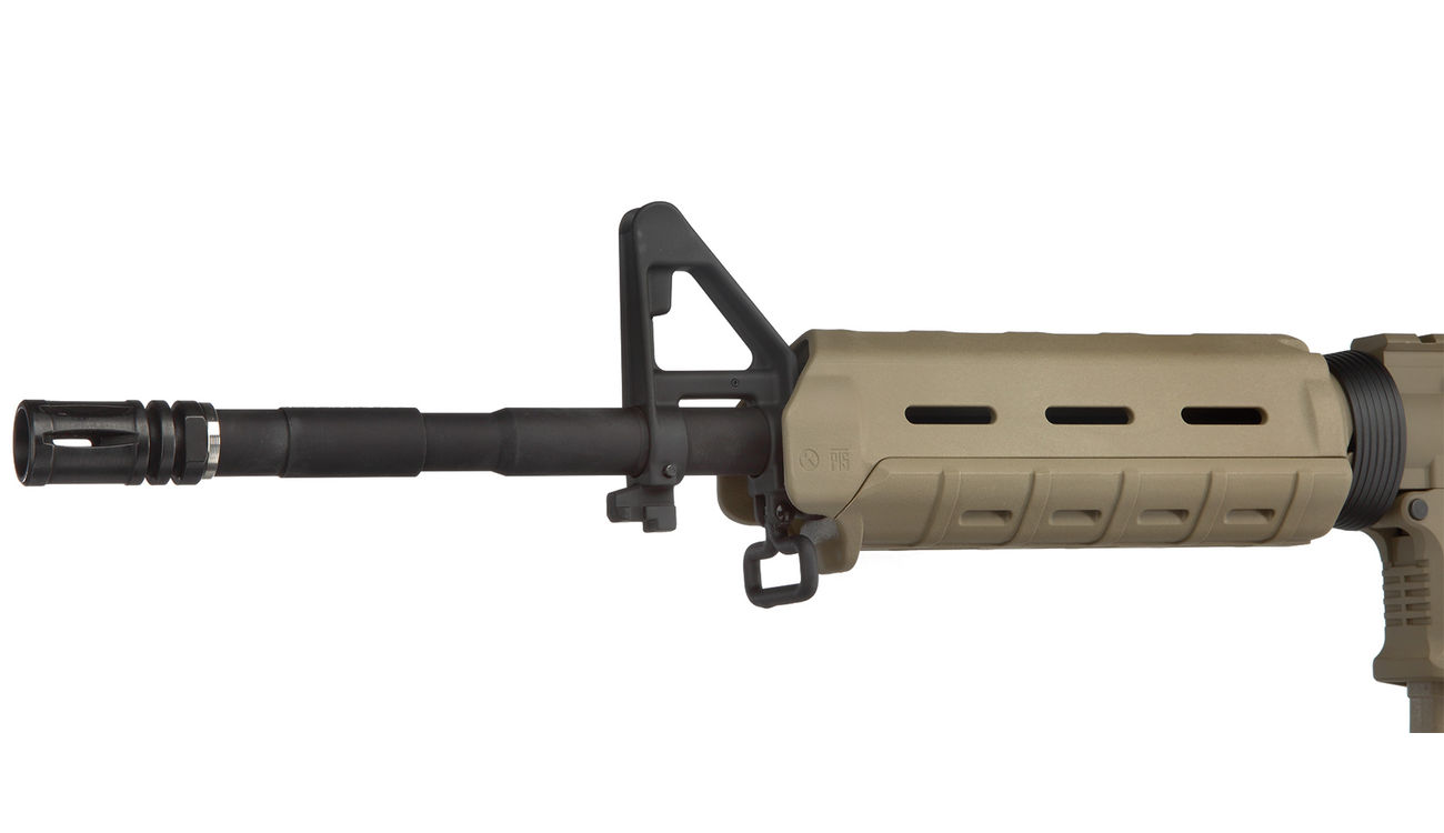 G&P MagPul MOE Carbine Vollmetall S-AEG 6mm BB Dark Earth Tan 5