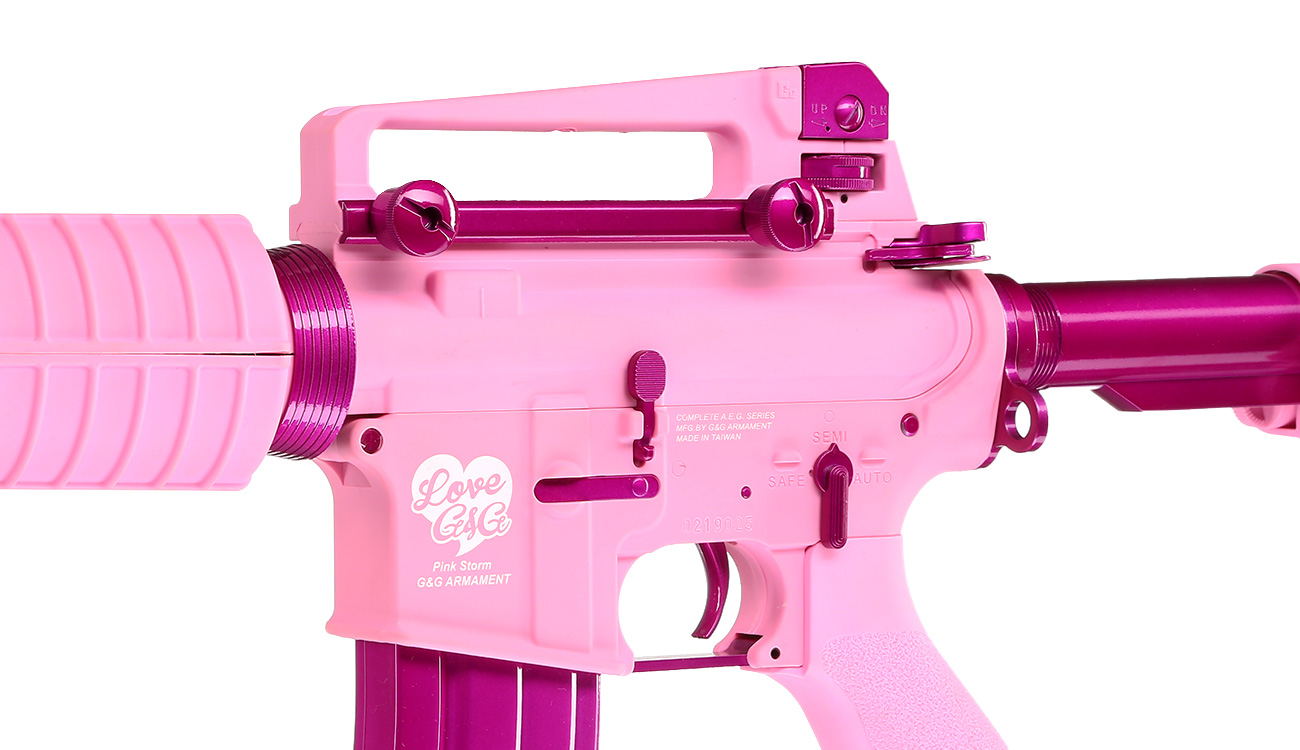 G&G CM16 Femme Fatale 16 S-AEG Pink Edition 7