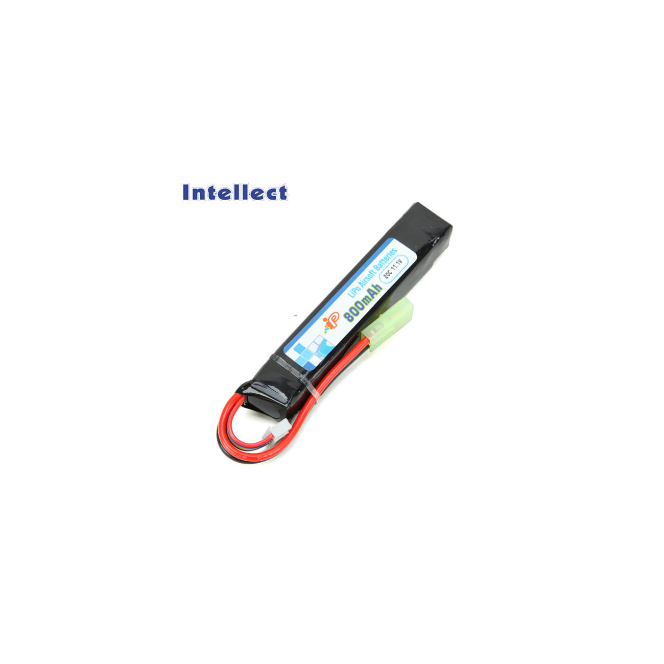 Intellect LiPo Akku 11,1V 800mAh 20C Stock-Tube Version 0