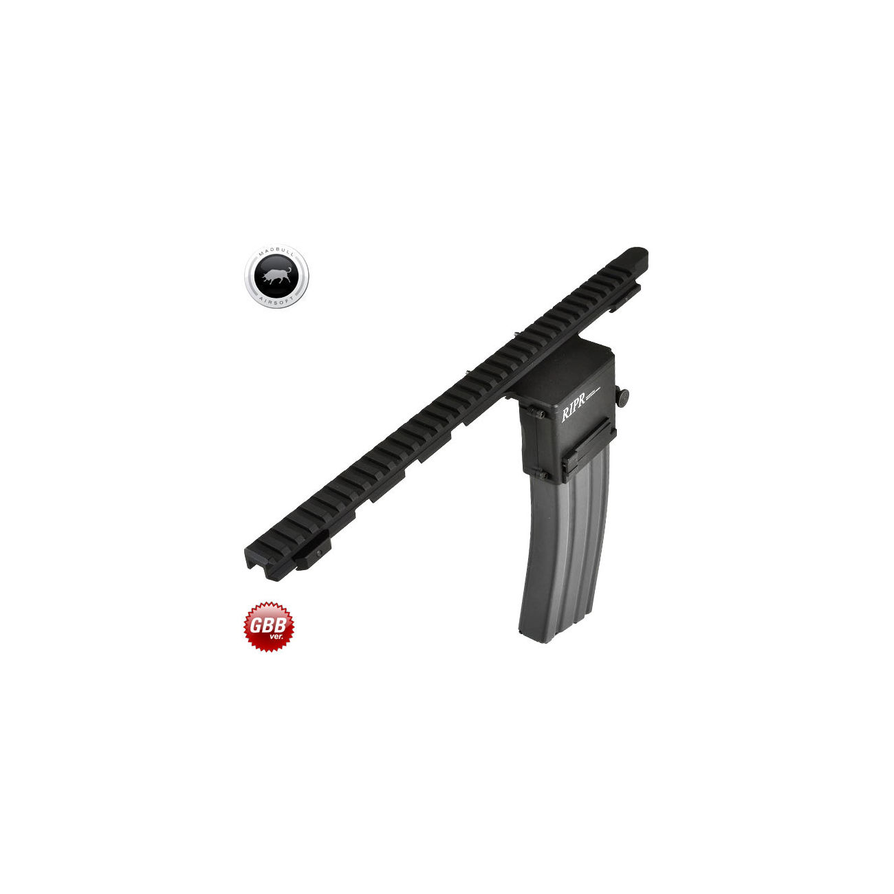 MadBull / Reset RIPR - Rifle Integrated Power Rail GBB Version schwarz 0