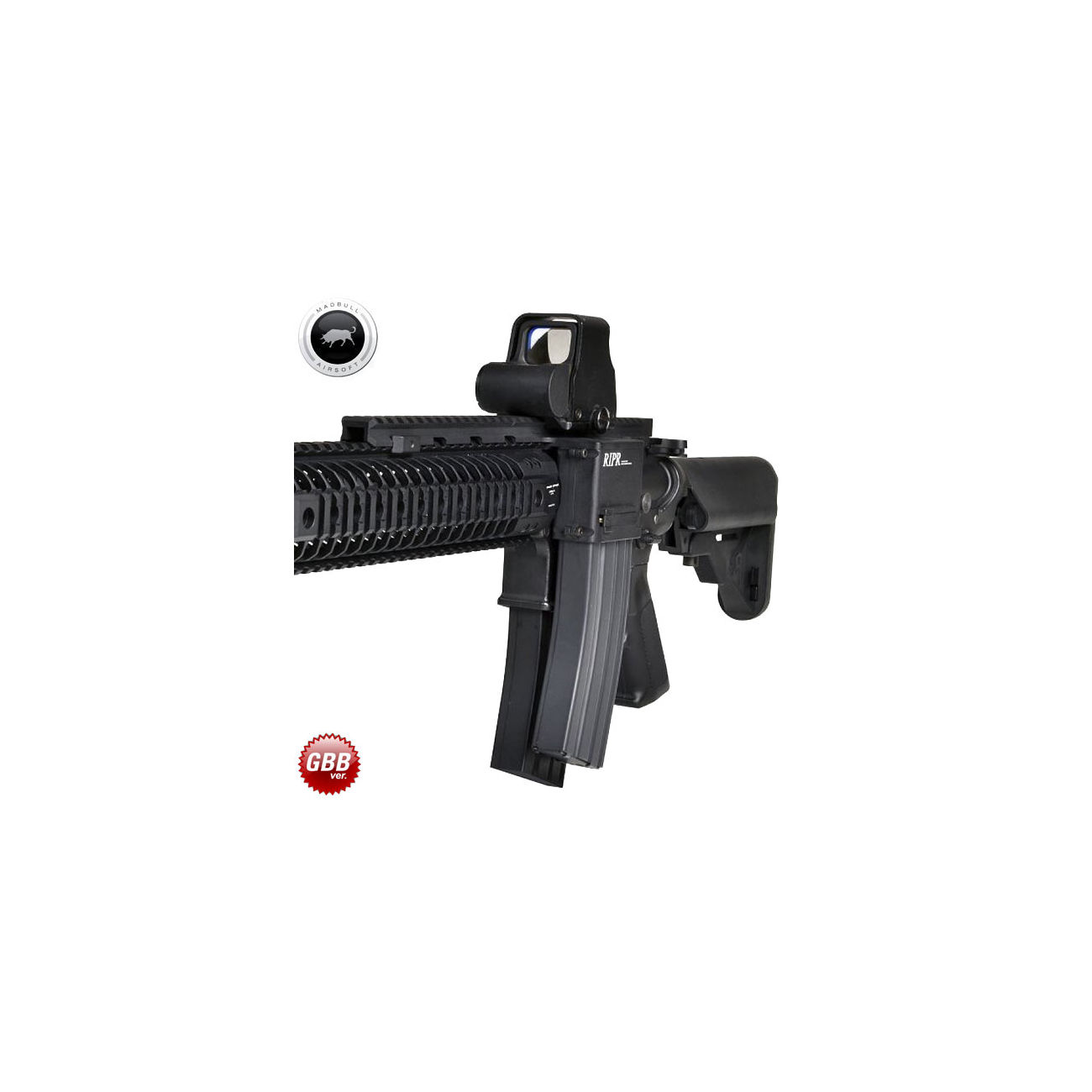 MadBull / Reset RIPR - Rifle Integrated Power Rail GBB Version schwarz 1