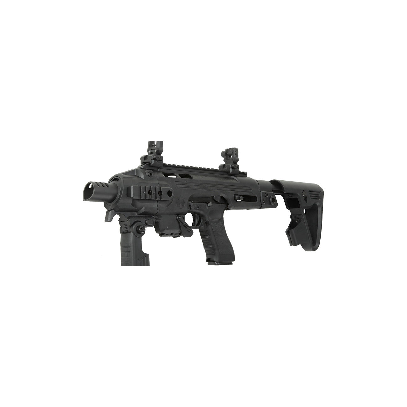 CAA Airsoft Division RONI Carbine Conversion Kit f. TM / KSC / WE G17 / G18C / G18 / G23F schwarz 0