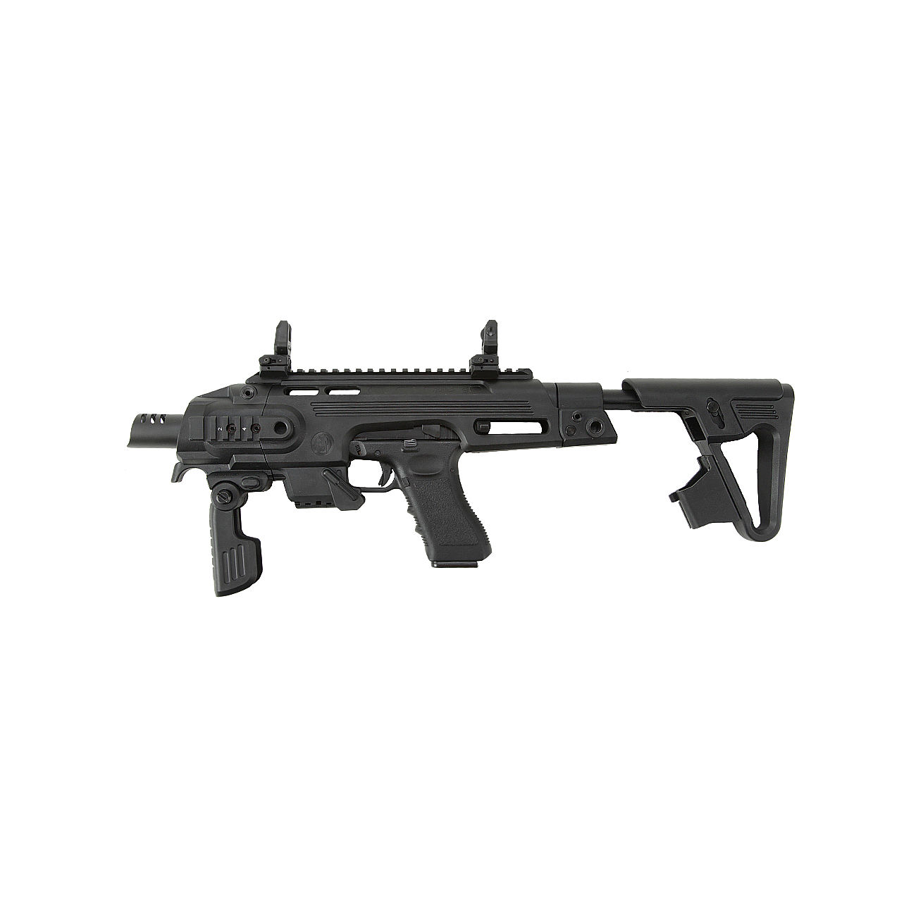 CAA Airsoft Division RONI Carbine Conversion Kit f. TM / KSC / WE G17 / G18C / G18 / G23F schwarz 1