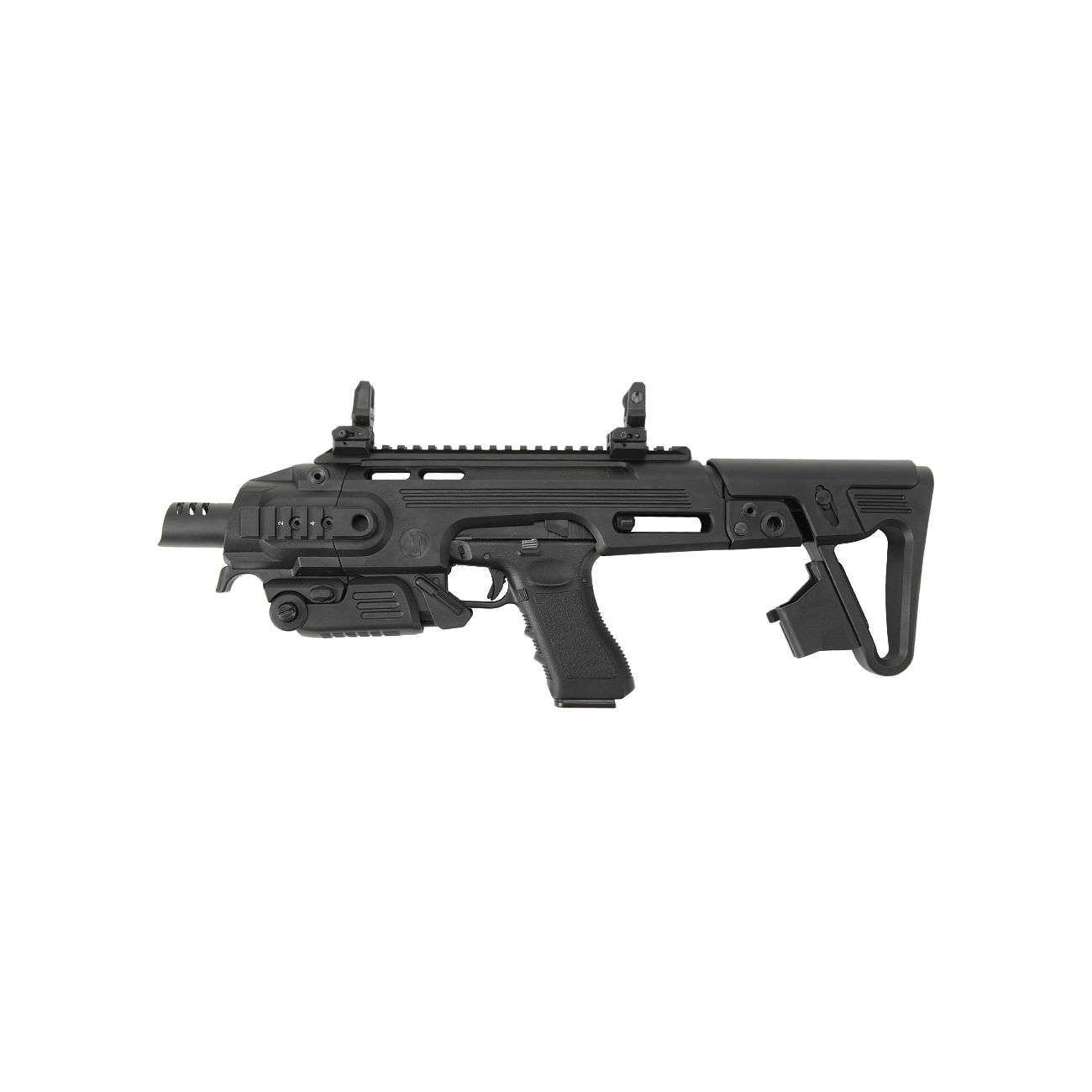 CAA Airsoft Division RONI Carbine Conversion Kit f. TM / KSC / WE G17 / G18C / G18 / G23F schwarz 3