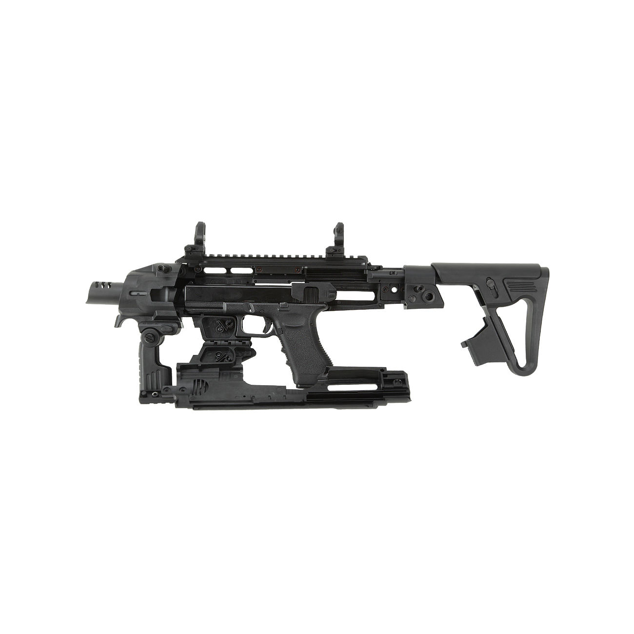 CAA Airsoft Division RONI Carbine Conversion Kit f. TM / KSC / WE G17 / G18C / G18 / G23F schwarz 4